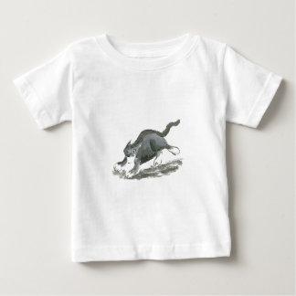 Tuxedo Cart Runs so Fast, Sumi-e Baby T-Shirt