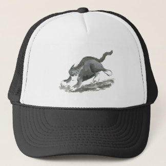 Tuxedo Cart Runs so Fast, Sumi-e Trucker Hat