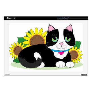 """Tuxedo Cat 17"""" Laptop Decals"""