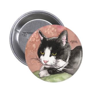 Tuxedo Cat 2 Inch Round Button