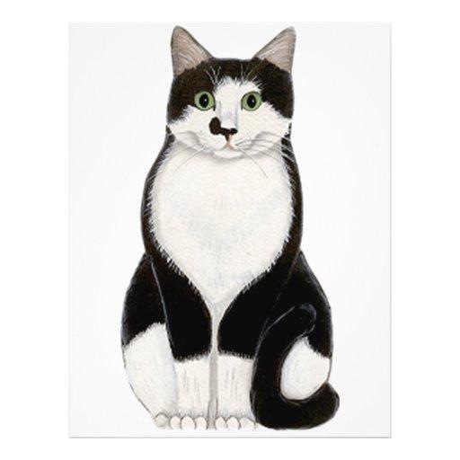 "Tuxedo Cat 8.5"" X 11"" Flyer"