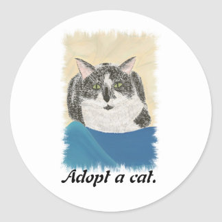 Tuxedo Cat Adopt a Cat Promotion Stickers
