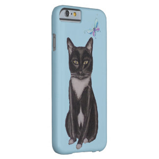 Tuxedo Cat and Butterfly Barely There iPhone 6 Case