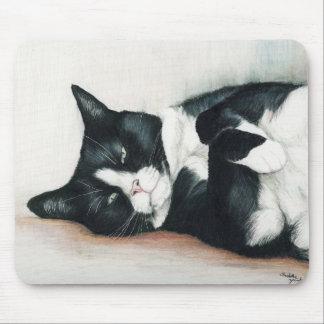 """Tuxedo Cat"" Art Mouse Pad"