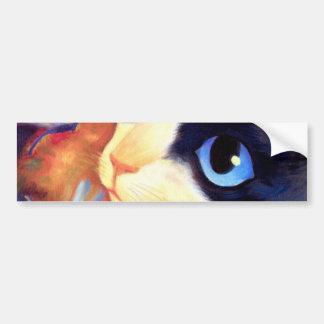 Tuxedo Cat Art - Multi Car Bumper Sticker