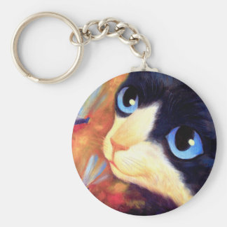 Tuxedo Cat Art - Multi Key Chain