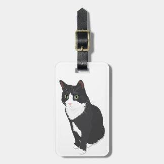 Tuxedo Cat Bag Tag