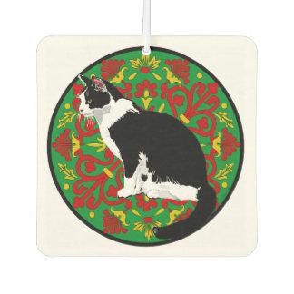 Tuxedo Cat Baroque Air Freshener