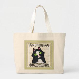 Tuxedo Cat Beach Tote Bag