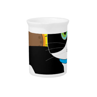 Tuxedo Cat Beverage Pitcher