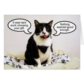 Tuxedo Cat Birthday Humor Card