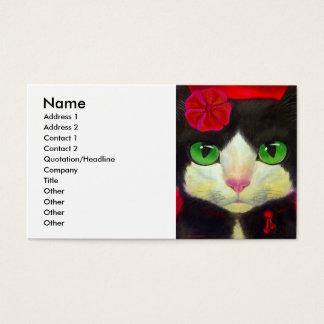TUXEDO CAT BUSINESS CARD