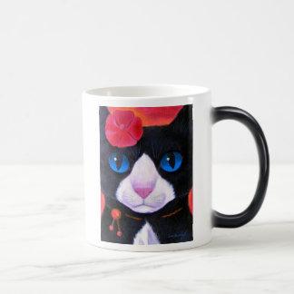Tuxedo Cat Butterfly Painting - Multi Magic Mug