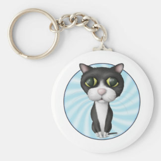 Tuxedo Cat Cartoon Key Chains