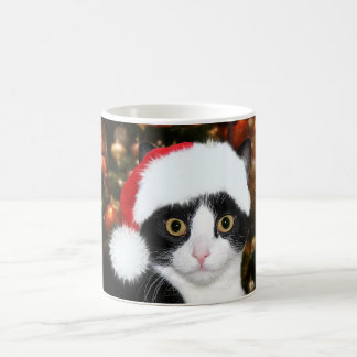 Tuxedo cat Christmas Coffee Mug