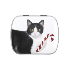 Tuxedo Cat Christmas Jelly Belly Candy Tins at Zazzle