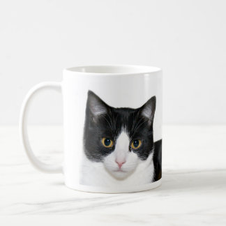 Tuxedo cat coffee mug
