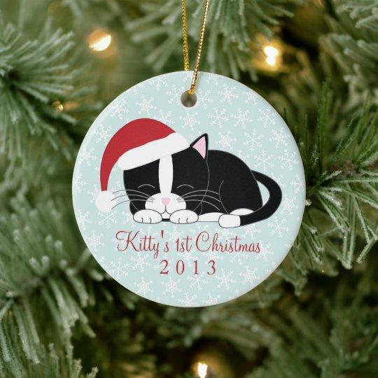 Tuxedo Cat Custom Christmas Ornaments | Zazzle.com