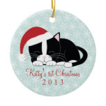 Tuxedo Cat Custom Christmas Ornaments