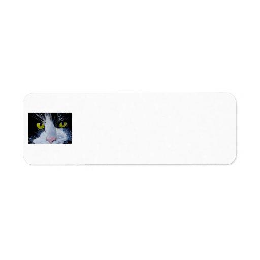 Tuxedo Cat Custom Return Address Labels
