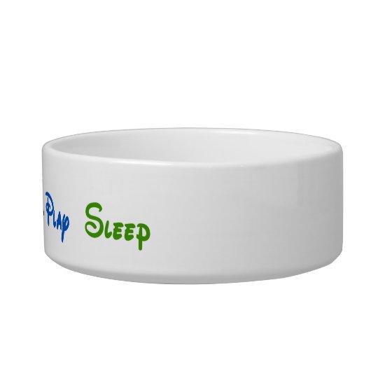 Tuxedo Cat - Eat-Drink-Play-Sleep Bowl