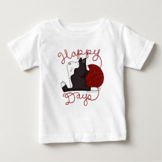 Tuxedo Cat- Happy Days Baby T-Shirt