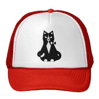 Tuxedo Cat Mesh Hat