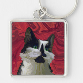 Tuxedo Cat Hits the Red Carpet Key Chains
