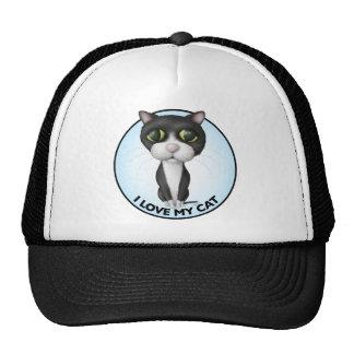 Tuxedo Cat - I Love My Cat Trucker Hat