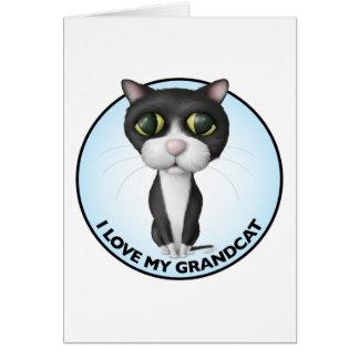 Tuxedo Cat - I Love My Grandcat Card