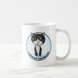 Tuxedo Cat - I Love My Grandcat Coffee Mug