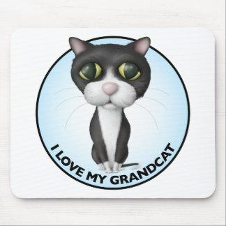 Tuxedo Cat - I Love My Grandcat Mouse Pad
