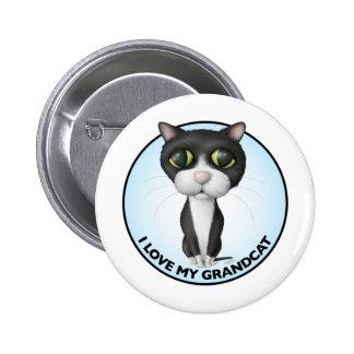Tuxedo Cat - I Love My Grandcat Pinback Button
