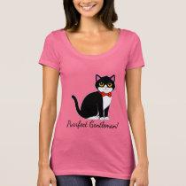 Tuxedo Cat in Bow Tie T-Shirt