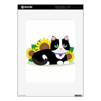 Tuxedo Cat iPad Decal