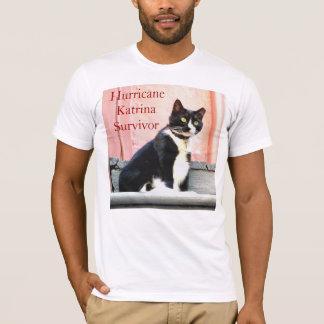Tuxedo Cat Katrina Survivor T-Shirt