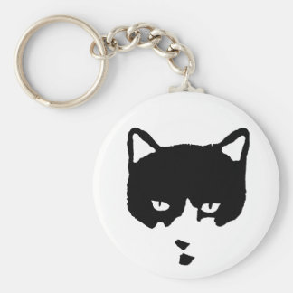 Tuxedo Cat Key Chain