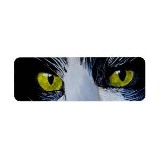 Tuxedo Cat Label