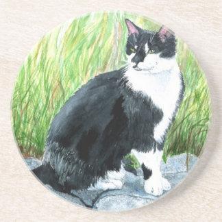 Tuxedo Cat Louie Drink Coaster