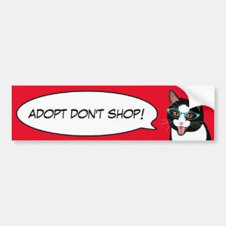 Tuxedo Cat Love Adopt a Shelter Cat Bumper Sticker