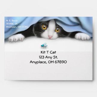 Tuxedo Cat Lover Envelope