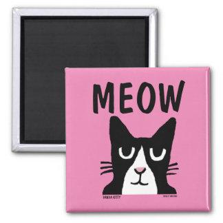 TUXEDO CAT magnets, Panda Kitty MEOW Magnet