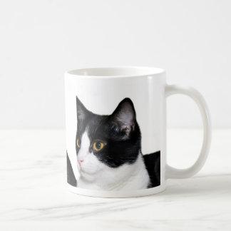 Tuxedo cat mug