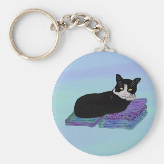 Tuxedo Cat Nap Keychains