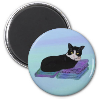 Tuxedo Cat Nap Magnets