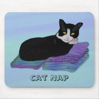 Tuxedo Cat Nap Mousepads