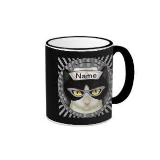 Tuxedo Cat Nurse Coffee Mug