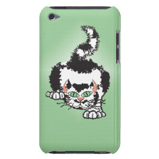 Tuxedo cat on the attack design iPod Case-Mate case