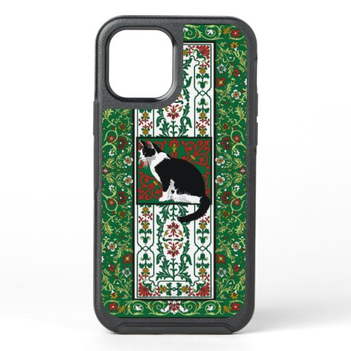 Tuxedo Cat Ornate OtterBox Symmetry iPhone 12 Case