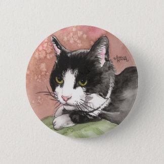 Tuxedo Cat Pinback Button